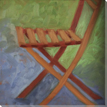 Folding Chair Wrapped Canvas Giclee Print Wall Art