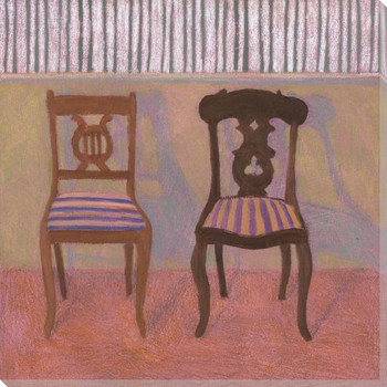 Aunt Rachel and Aunt Abby Two Chairs Wrapped Canvas Giclee Print
