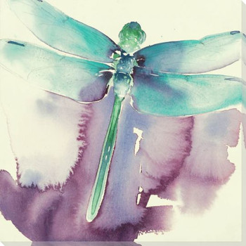 Dragonfly Wrapped Canvas Giclee Print Wall Art