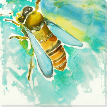 Honey Bee Wrapped Canvas Giclee Print Wall Art