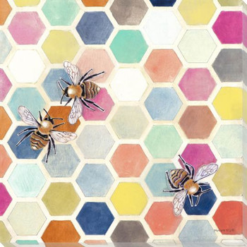 New Digs II Bees Wrapped Canvas Giclee Print Wall Art
