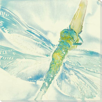 Summer Dragonfly Wrapped Canvas Giclee Print Wall Art