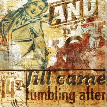 Jill Tumbling Wrapped Canvas Giclee Print Wall Art