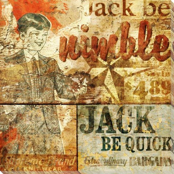 Jack Be Quick Wrapped Canvas Giclee Print Wall Art