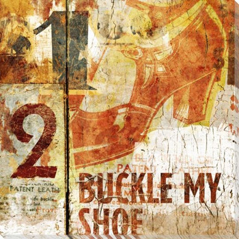 Buckle My Shoe Wrapped Canvas Giclee Print Wall Art