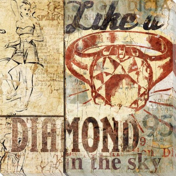 Like a Diamond Wrapped Canvas Giclee Print Wall Art