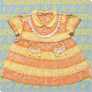 Little Bee Dress Wrapped Canvas Giclee Print Wall Art