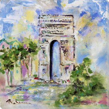 L'Arch de Triomphe Wrapped Canvas Giclee Print Wall Art