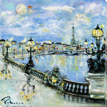 Pont Alexander III Wrapped Canvas Giclee Print Wall Art