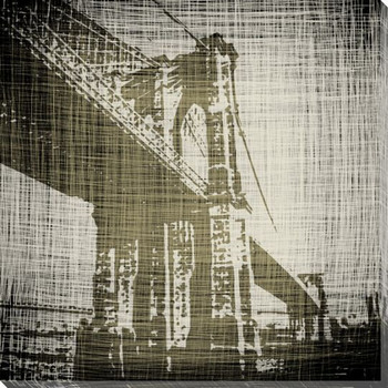 Bridges of New York I Wrapped Canvas Giclee Print Wall Art