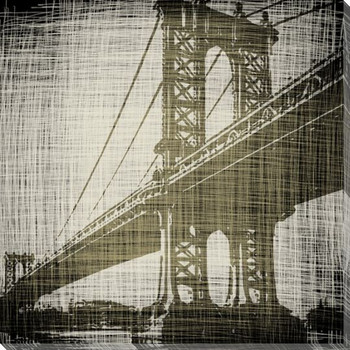Bridges of New York II Wrapped Canvas Giclee Print Wall Art
