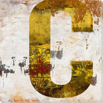 Letter Key C Wrapped Canvas Giclee Print Wall Art
