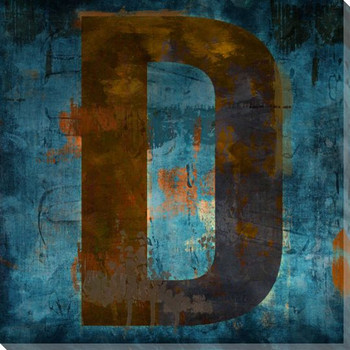 Letter Key D Wrapped Canvas Giclee Print Wall Art