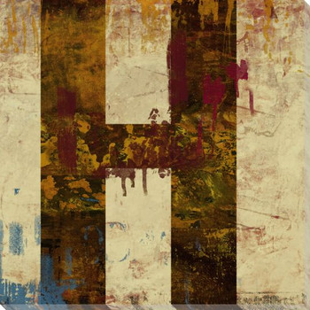 Letter Key H Wrapped Canvas Giclee Print Wall Art