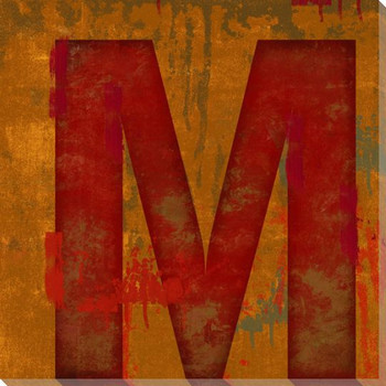 Letter Key M Wrapped Canvas Giclee Print Wall Art