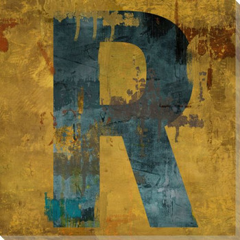 Letter Key R Wrapped Canvas Giclee Print Wall Art