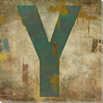 Letter Key Y Wrapped Canvas Giclee Print Wall Art