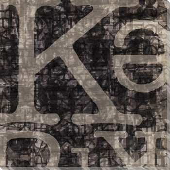 Letterforms K Wrapped Canvas Giclee Print Wall Art
