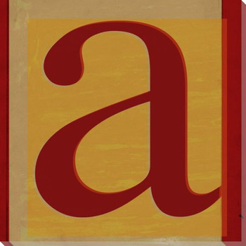 QWERTY Letter A Wrapped Canvas Giclee Print Wall Art