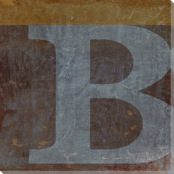 QWERTY Letter B Wrapped Canvas Giclee Print Wall Art
