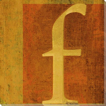 QWERTY Letter F Wrapped Canvas Giclee Print Wall Art