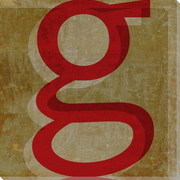 QWERTY Letter G Wrapped Canvas Giclee Print Wall Art