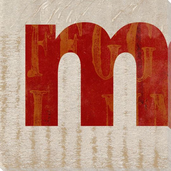 QWERTY Letter M Wrapped Canvas Giclee Print Wall Art