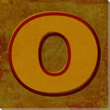 QWERTY Letter O Wrapped Canvas Giclee Print Wall Art