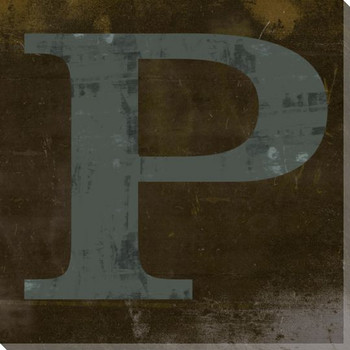 QWERTY Letter P Wrapped Canvas Giclee Print Wall Art