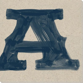 Painted Letter A Wrapped Canvas Giclee Print Wall Art