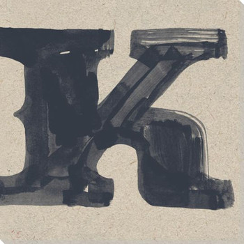 Painted Letter K Wrapped Canvas Giclee Print Wall Art