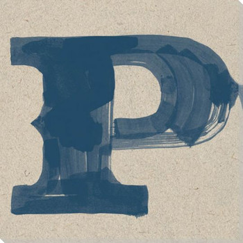 Painted Letter P Wrapped Canvas Giclee Print Wall Art