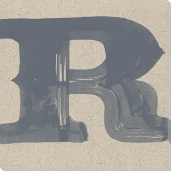 Painted Letter R Wrapped Canvas Giclee Print Wall Art