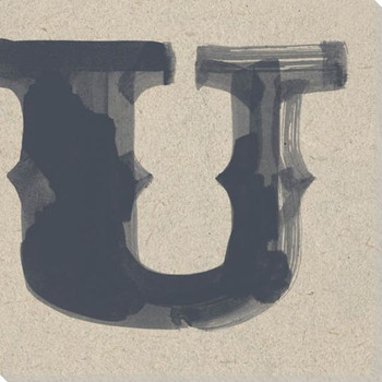 Painted Letter U Wrapped Canvas Giclee Print Wall Art