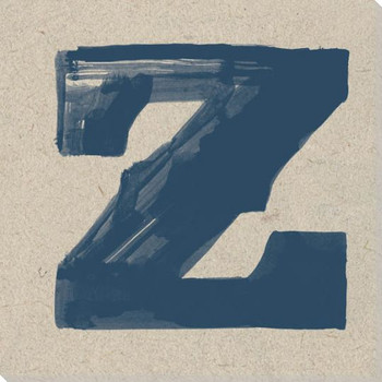 Painted Letter Z Wrapped Canvas Giclee Print Wall Art