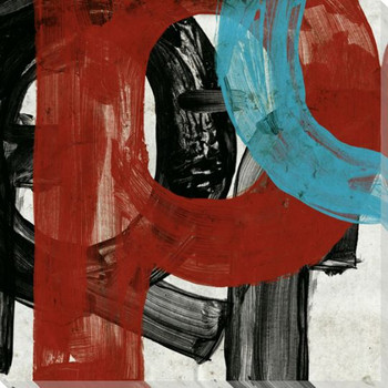 Fleeting Red Letter P Wrapped Canvas Giclee Print Wall Art