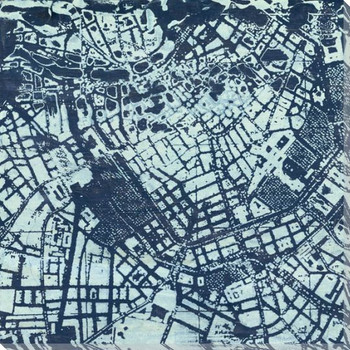 Classic City Map I Wrapped Canvas Giclee Print Wall Art