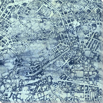 Classic City Map II Wrapped Canvas Giclee Print Wall Art