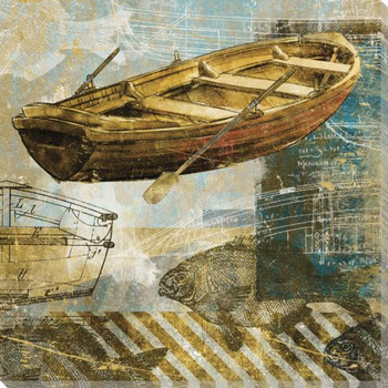 Rowboat One Wrapped Canvas Giclee Print Wall Art