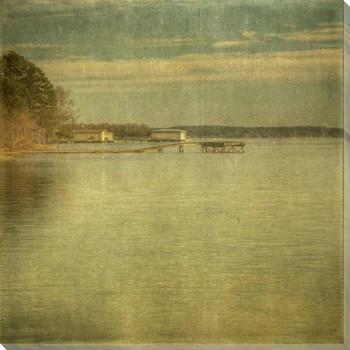 East Shore Docks Wrapped Canvas Giclee Print Wall Art