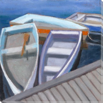 Rockport Boats 1 Wrapped Canvas Giclee Print Wall Art