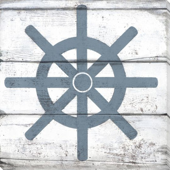 Nautical Elements Ship Wheel III Wrapped Canvas Giclee Print