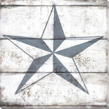 Nautical Elements Star I Wrapped Canvas Giclee Print Wall Art