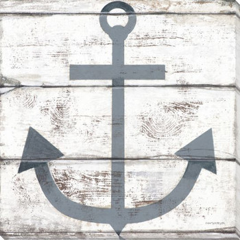 Nautical Elements Anchor II Wrapped Canvas Giclee Print Wall Art