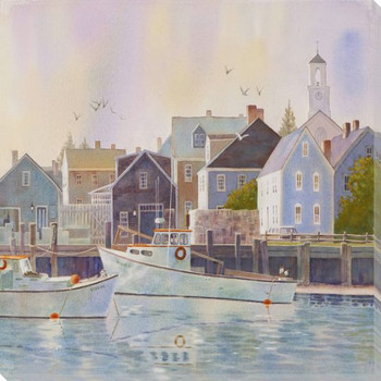 Portsmouth New Hampshire Fishing Boats Wrapped Canvas Giclee Art Print