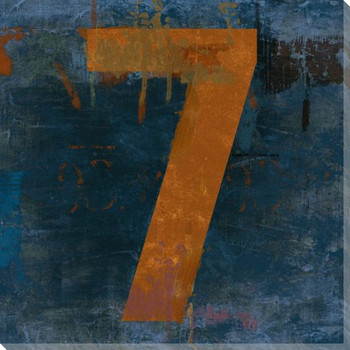 Number Key 7 Wrapped Canvas Giclee Print Wall Art