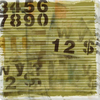 Embellished Neutral Numbers Wrapped Canvas Giclee Print Wall Art