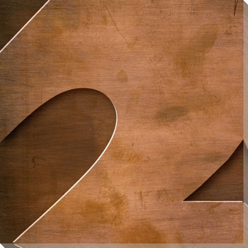 Gill Sans Ultra Bold Number 2 Wrapped Canvas Giclee Print Wall Art