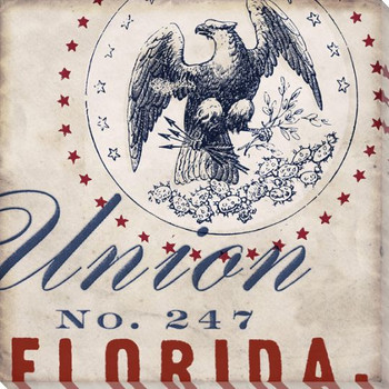 Florida Union State Wrapped Canvas Giclee Print Wall Art