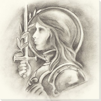 Joan of Arc Portrait Wrapped Canvas Giclee Print Wall Art